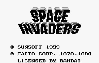 Screenshot Thumbnail / Media File 1 for Space Invaders (J) [M][!]